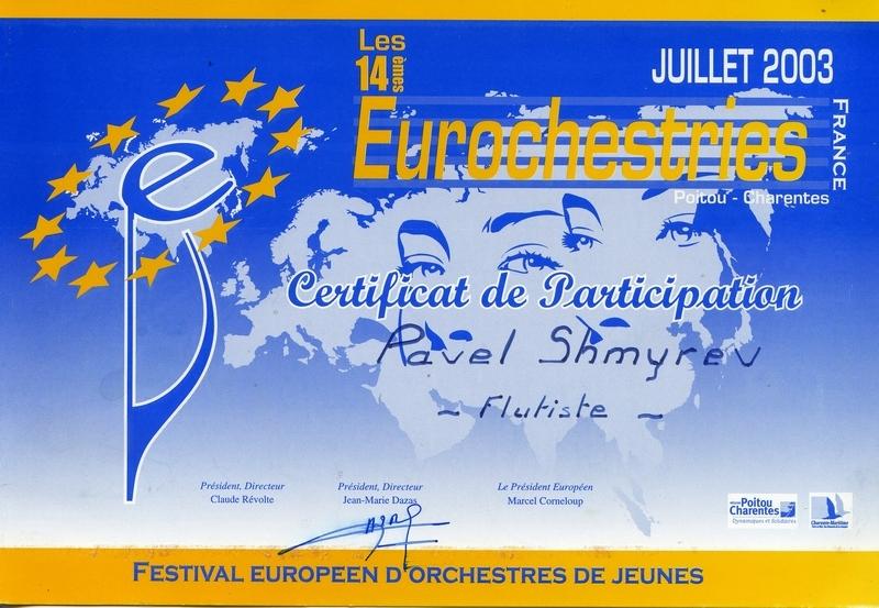 2003, EUROCHESTRIES